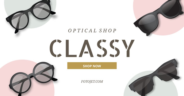 Fashion Optical Shop Facebook Ad Template