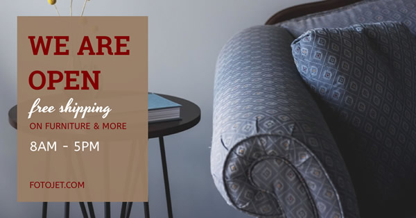Furniture Store Facebook Ad Template