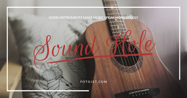 Musical Instrument Facebook Ad Template