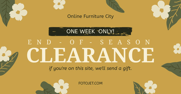 Online Furniture Sale Facebook Ad Template