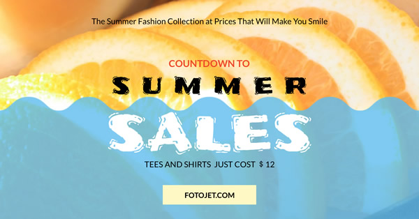 Summer Sale Facebook Ad Template