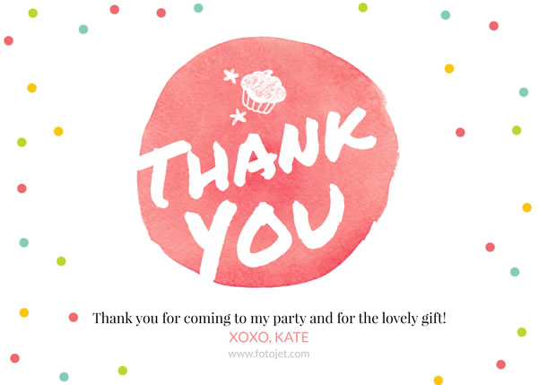 Personalised Spot Thank You Card Template