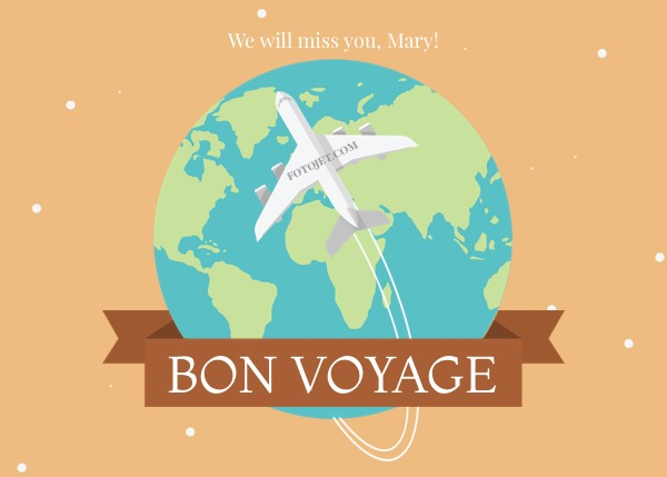 Bon voyage greeting card template template fotojet bon voyage greeting card template m4hsunfo