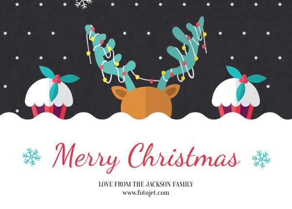 Merry Christmas Greeting Card Template Template FotoJet - Christmas greeting card template