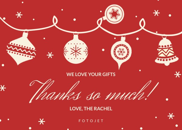 Personalized Christmas Thank You Card Template – Christmas Thank You Cards