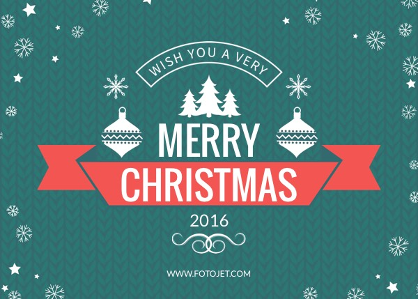 Merry Christmas Greeting Card Design Template Template | FotoJet
