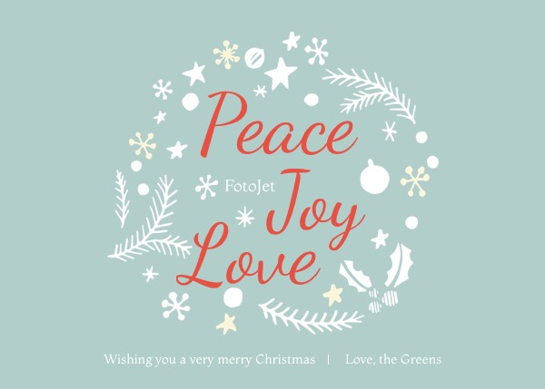 Love Merry Christmas Greeting Card Template