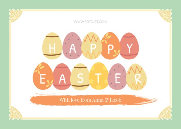 Happy Easter Greeting Card Template Template  Fotojet