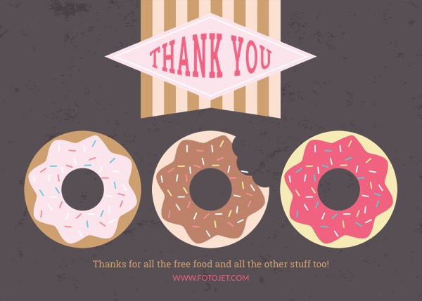 Printable Doughnut Thank You Card Template
