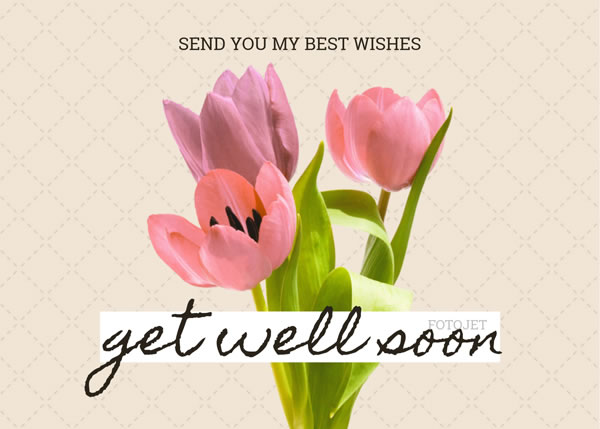Floral Get Well Soon Card Template Template FotoJet - Get well soon card template