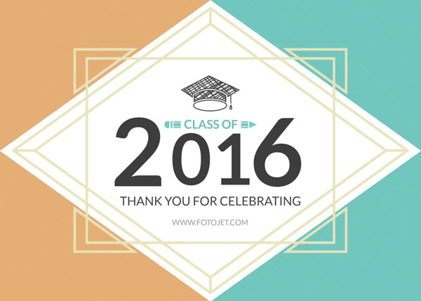'.Class of 2016 Graduation Thank You Card Template.'