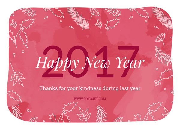 Red Happy New Year Card Design Template