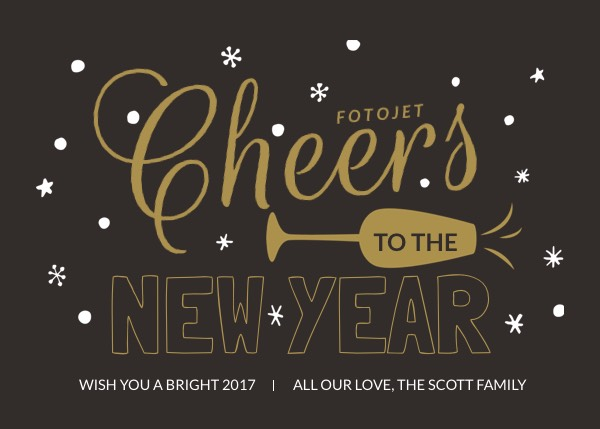 custom new year greeting card template