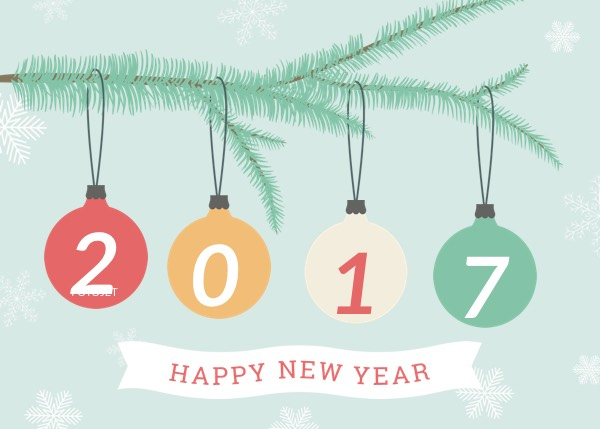 creative new year greeting card template