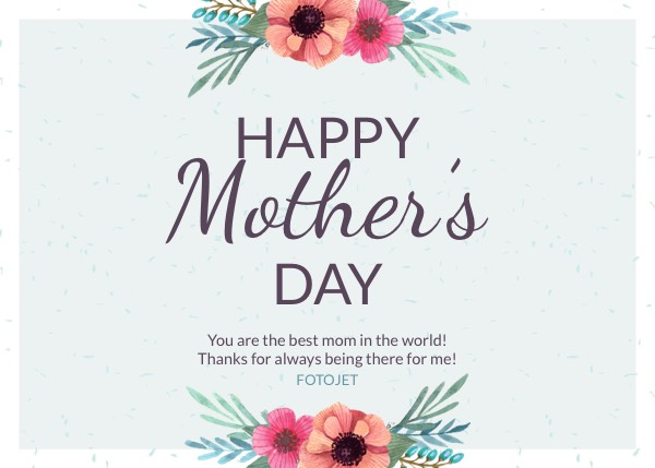 Happy MotherS Day Greeting Card Template Template  Fotojet