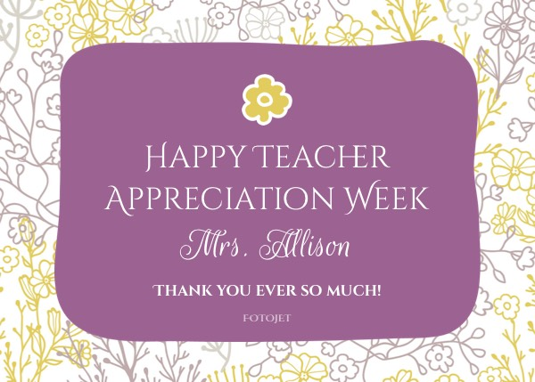 '.Happy Teacher Appreciation Week Card Template.'