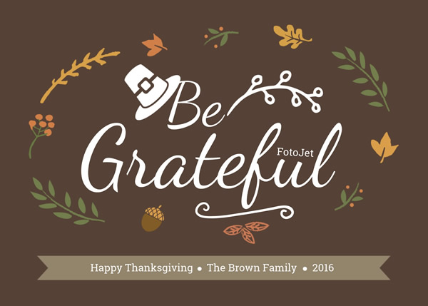 Brown Thanksgiving Greeting Card Template