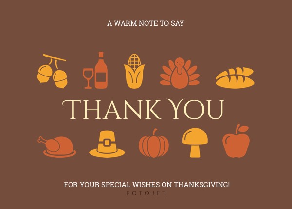 Printable Thanksgiving Thank You Card Template