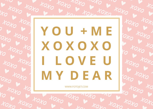 Pink Heart Pattern Valentine's Day Card Template