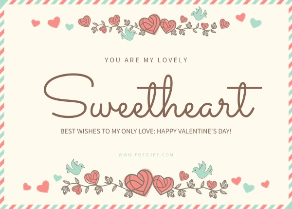 sweet heart valentine s day card template template fotojet