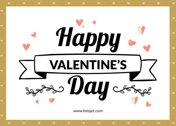'.Happy Valentine's Day Greeting Card Template.'