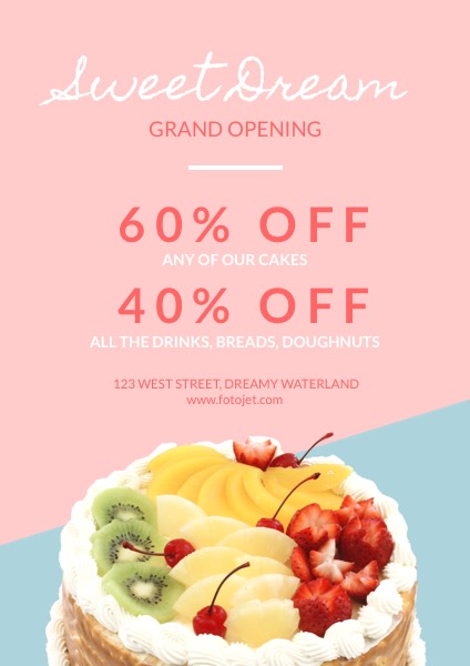 Cake Shop Grand Opening Flyer Template Template | Fotojet