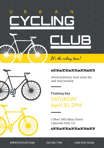 Cycling Club Recruitment Flyer Template Template Fotojet