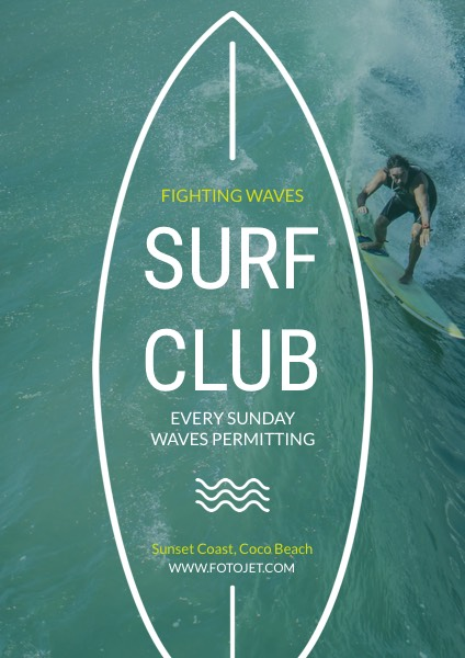 Surf Club Promotional Flyer Template