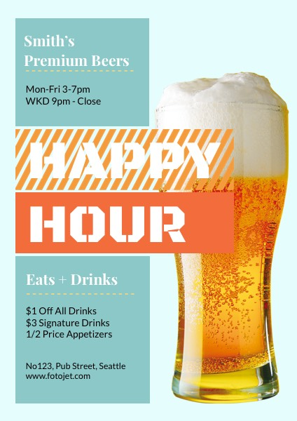 Pub Happy Hour Flyer Template