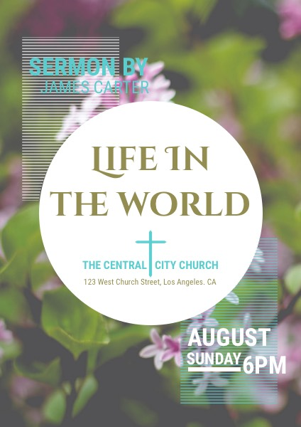Sermon Church Event Flyer Template