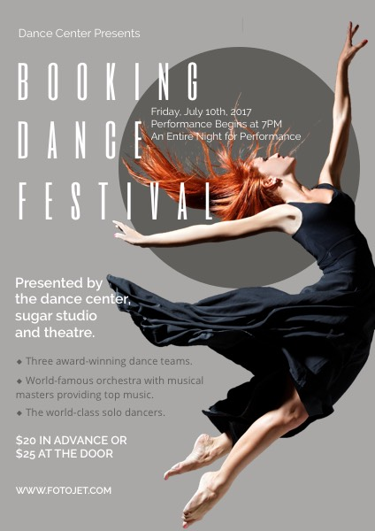 Dance Festival Promotional Flyer Template
