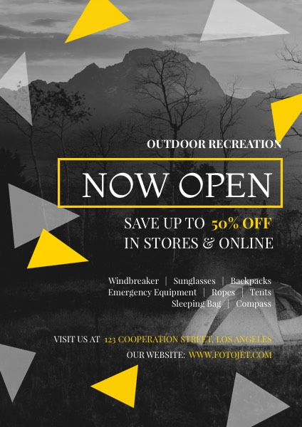 Outdoor Store Grand Opening Sale Flyer Template