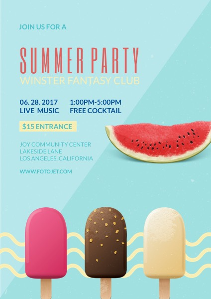 Green Summer Party Flyer Template