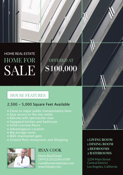 '.Home for Sale Real Estate Flyer Template.'