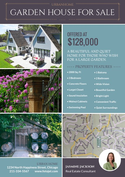 Garden House For Sale Real Estate Flyer Templatehouse Sale Flyer