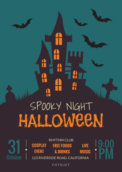 Spooky Night Halloween Party Flyer Template Template Fotojet