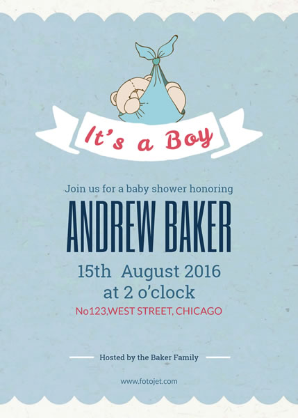 '.Baby Shower Invitation for Boys.'