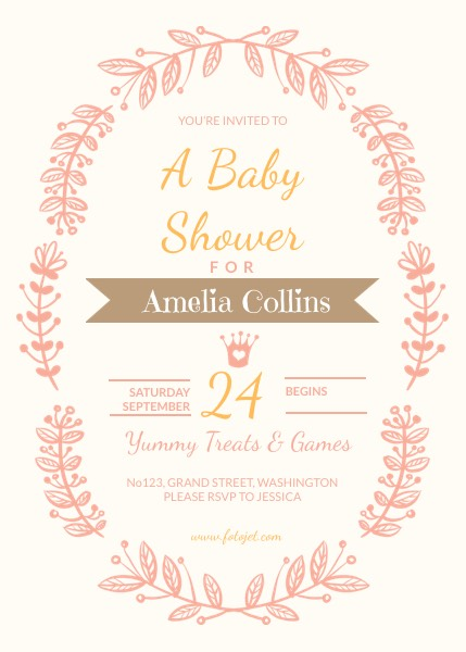 Free Online Baby Shower Invitation Maker | FotoJet