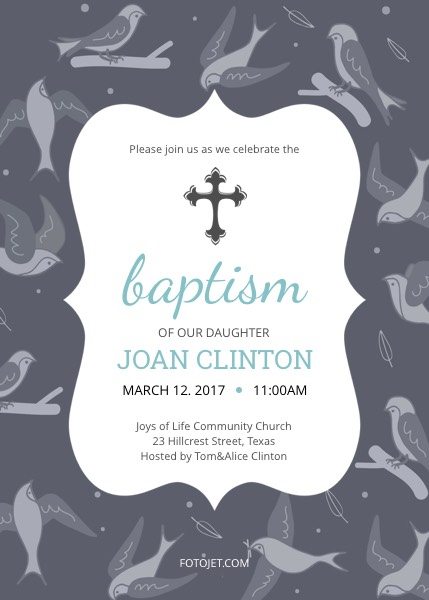 Create Baptism Invitations and Christening Invitations Online ...