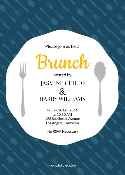 Generic Brunch Party Invitation