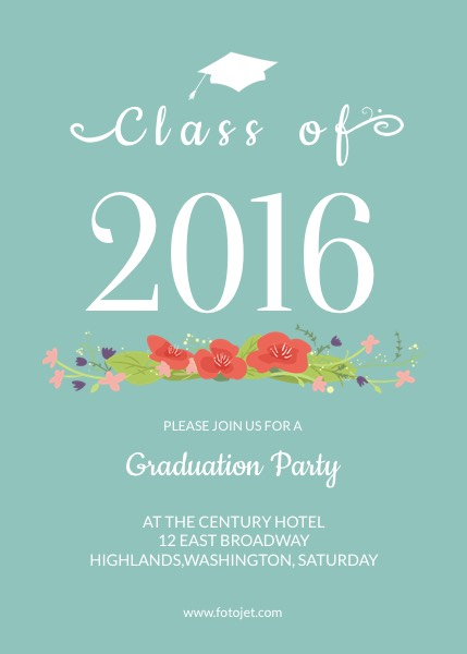 '.General Graduation Party Invitation.'