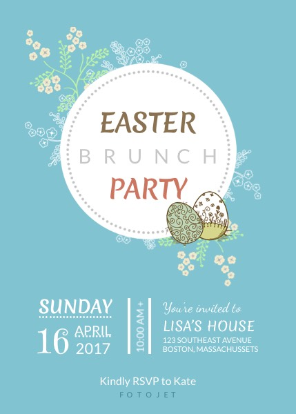 Easter Brunch Party Invitation