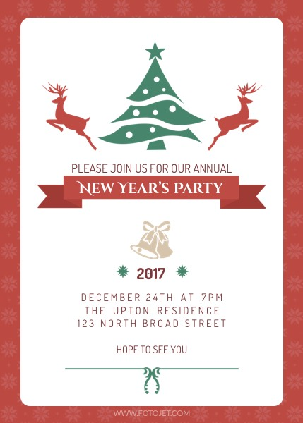 new year party invitation template