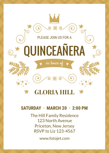 Design Your Own Quinceañera Invitations Online | FotoJet