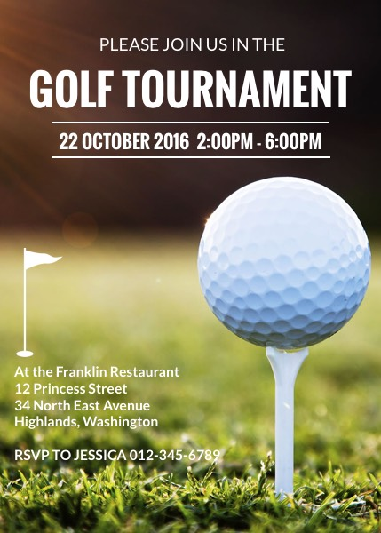Golf tournament invitation template for Golf tournament program template