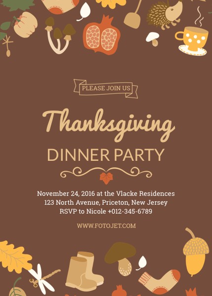 Thanksgiving party invitation template template fotojet thanksgiving party invitation template stopboris Gallery