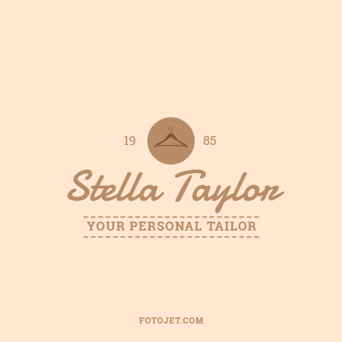 Hanger Fashion Clothing Shop Logo Template