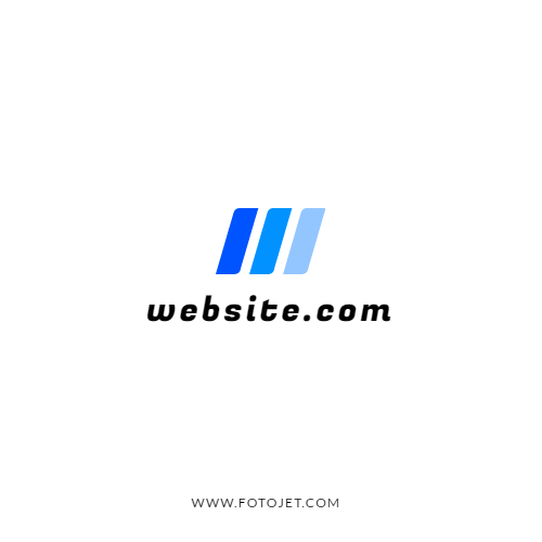 '.Gradient Blue Website Logo Design Template.'