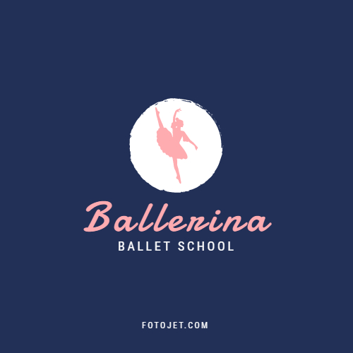 Ballerina Dance School Logo Template