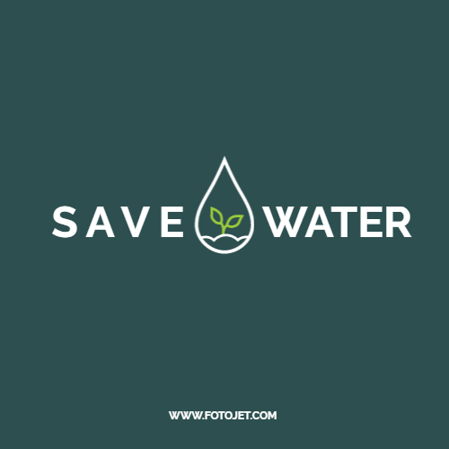 Sprout Environment Save Water Logo Template